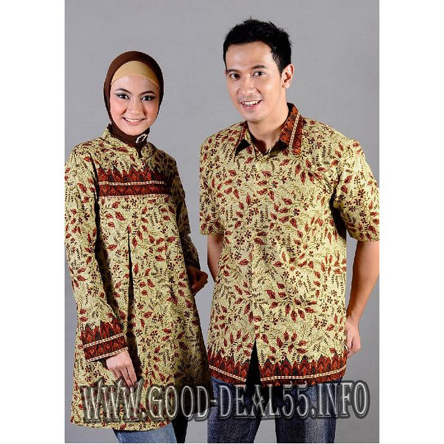 Beautiful Long Hair Model Baju Batik Muslim Modern