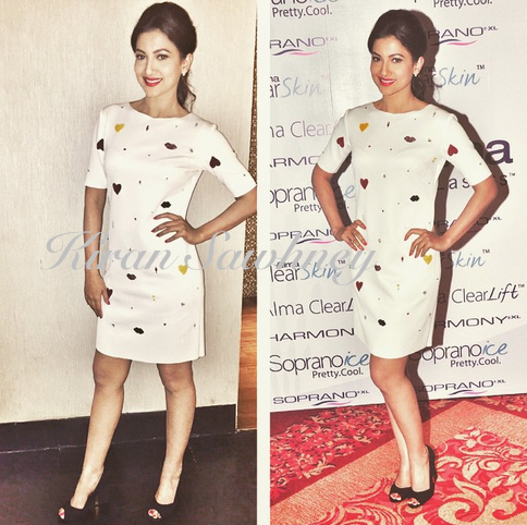 Gauahar Khan in Ash Haute Couture at product launch. Mumbai.