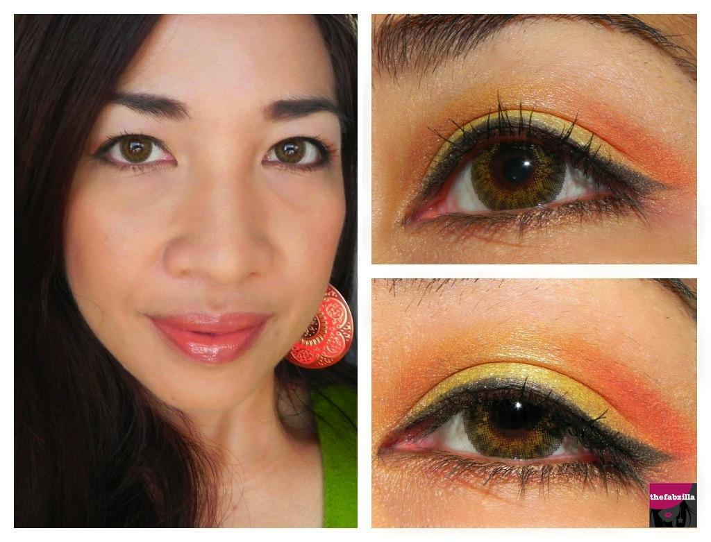 Halloween Wearable Makeup Candy Corn Inspired TheFabZilla - Sweet Halloween Makeup
