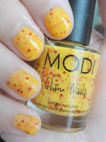 Modi nail polish 73 - Pumpkin Jelly