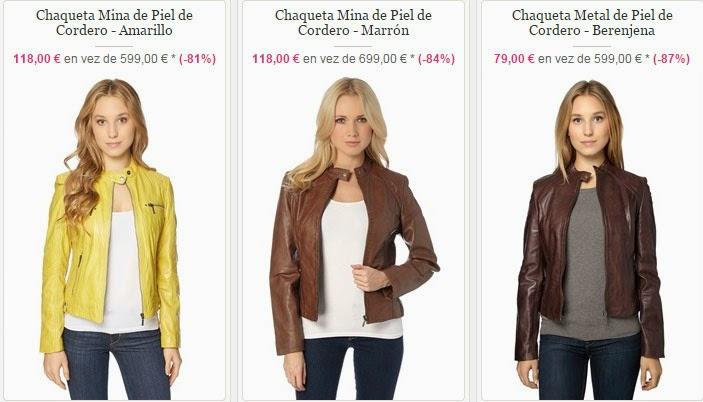 Algunas de las chaquetas de piel para mujer en oferta