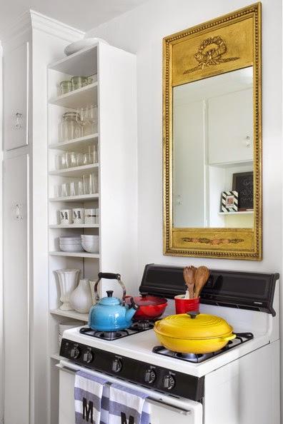 Retro y con encanto un espejo en la cocina for Cocinas con espejos
