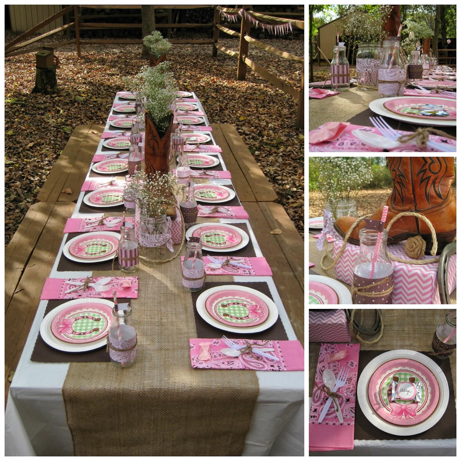 Cowgirl Birthday Decorations Nbrynn Lets Party Yall A Cowgirl Birthday