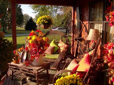 Autumn outdoor decorations autumn posters picture for Fall decorations for outside the home