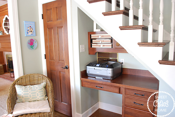 Under Stairs Desk desk under stairs - home design