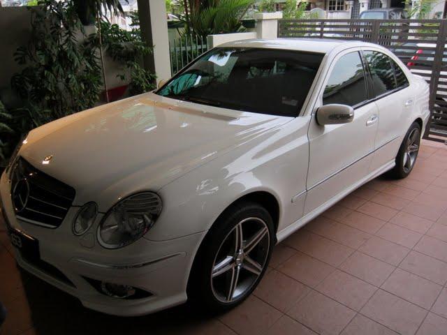 Optimum opti coat on mercedes benz amg e class for Mercedes benz sweatsuit
