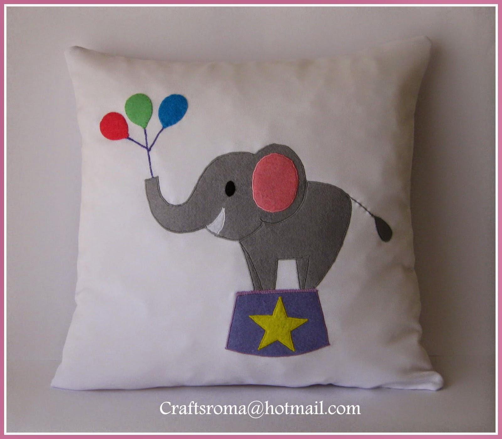 Crafts roma cojines personalizados para beb s - Cojines para habitacion de bebe ...