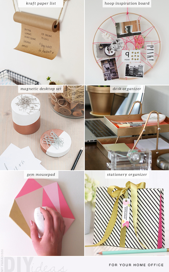 6 pretty and creative diys for your home office and desktop