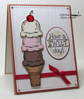 "North Coast Creations ""What's The Scoop?"" Card Designer Angie Crockett"