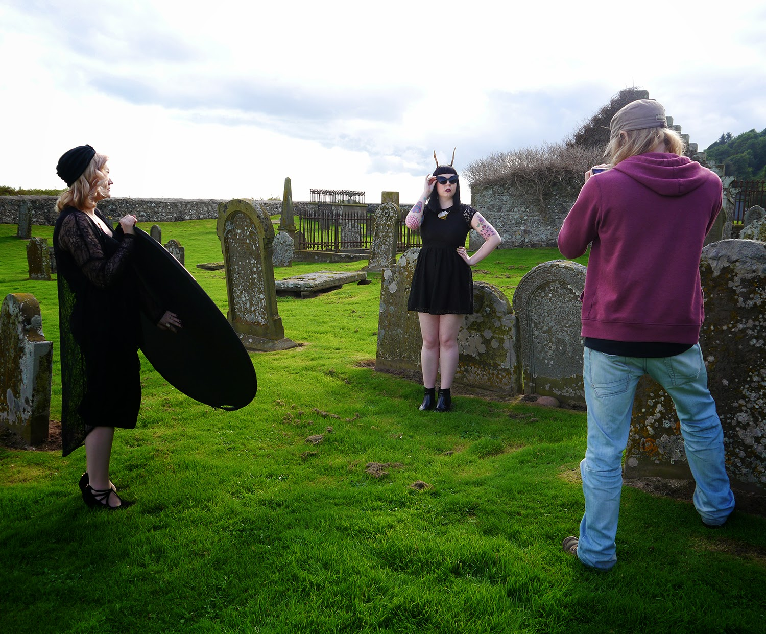 Halloween Girl Gang, #halloweengirlgang, witch style, Miss West End Girl, Miss Vicky Viola, Wardrobe Conversations, behind the scenes, film making, fashion film, Halloween fashion film, Scottish bloggers, Scotland