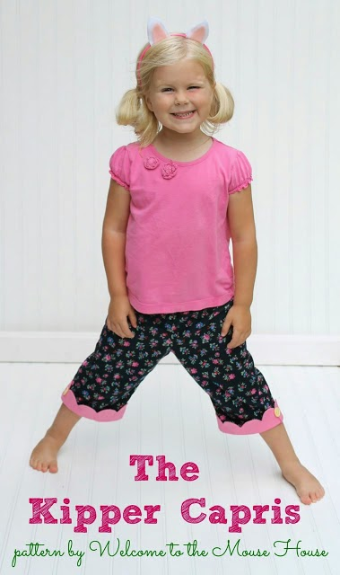 Kipper capris tutorial and pattern