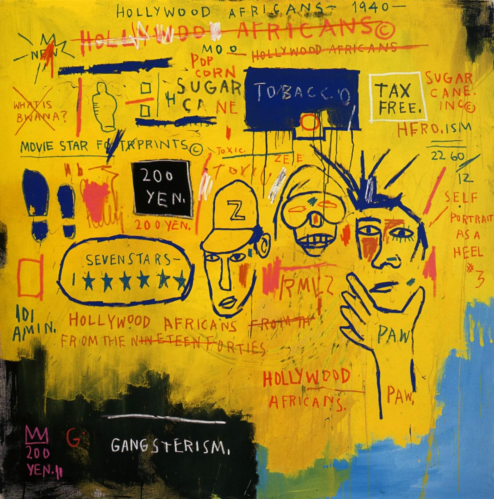Basquiat Hollywood Africans Jean-Michel Basquiat P...