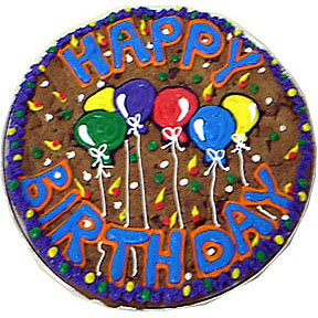 Birthday Balloons and Cake Cartoon