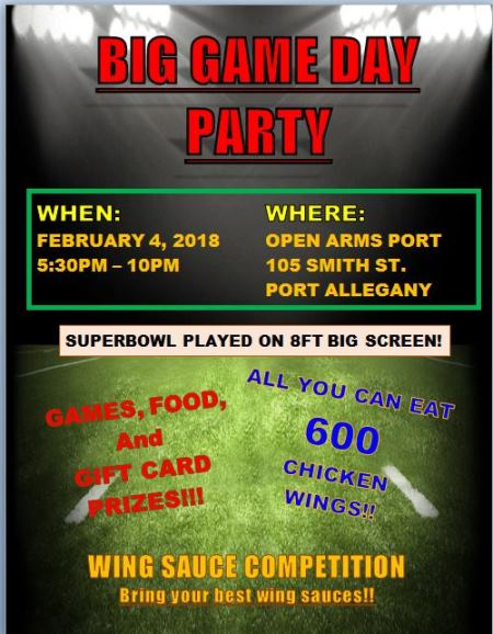 2-4 Big Game Day Party