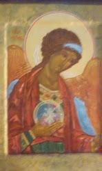 """Archangel Michael"" painted by Alexander Colombos - ""Αρχάγγελος Μιχαήλ"": χειρ Αλεξάνδρου Κολόμβου"