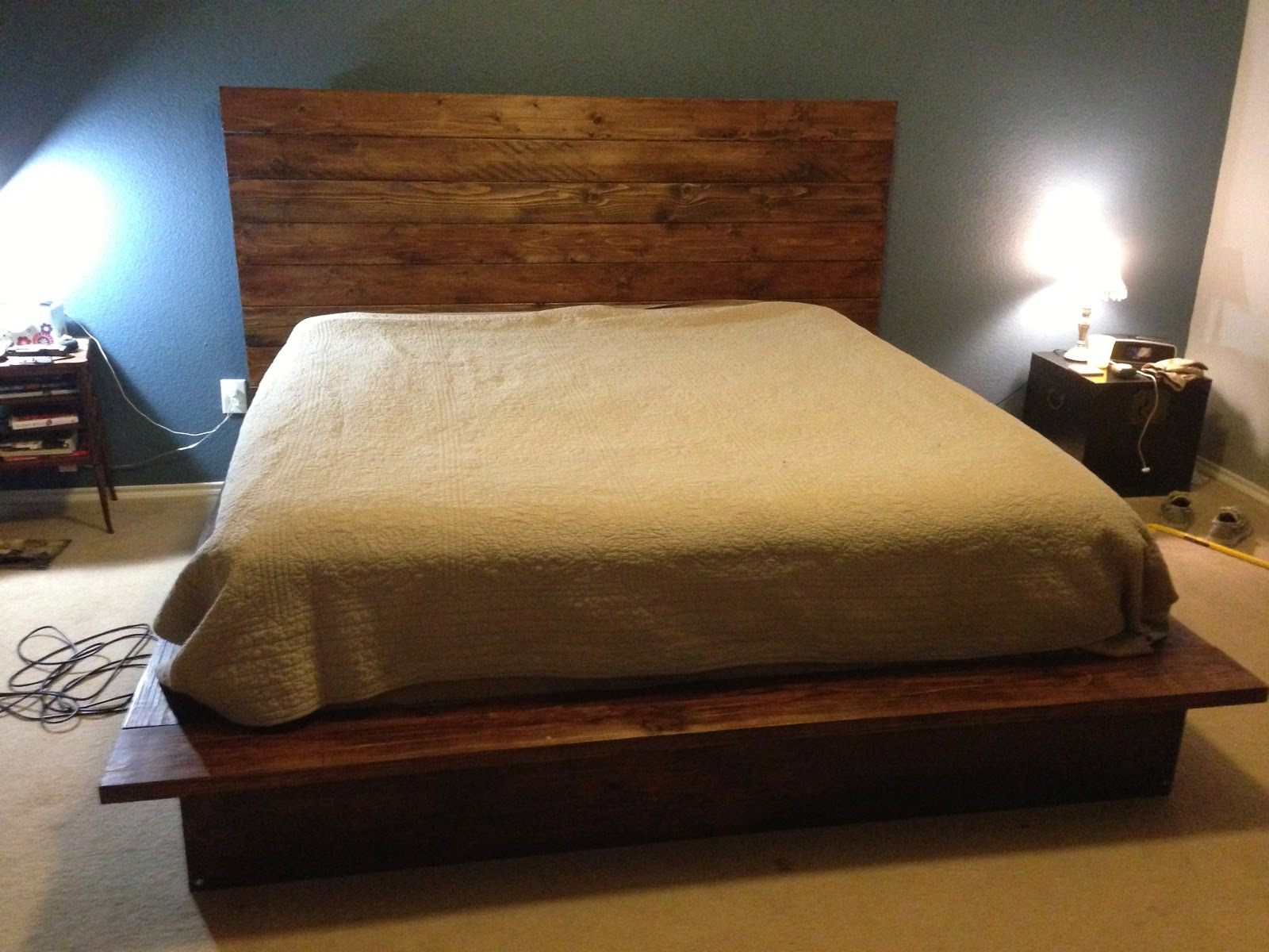 Fire Fly Fisherman: DIY Bed Frame. Full resolution‎  picture, nominally Width 1600 Height 1200 pixels, picture with #1A6CB1.