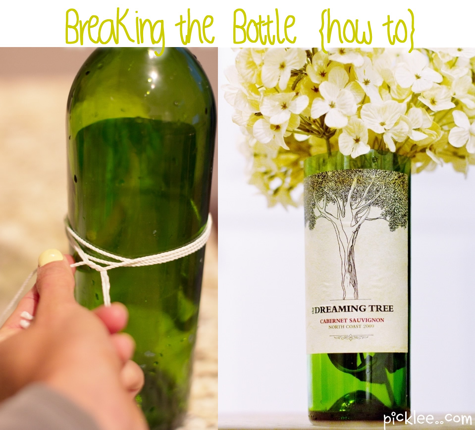 What not diy cutting bottles for Cutting glass bottles with string