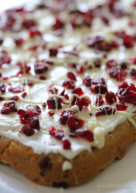 Skinny Cranberry Bliss Bars | Skinnytaste