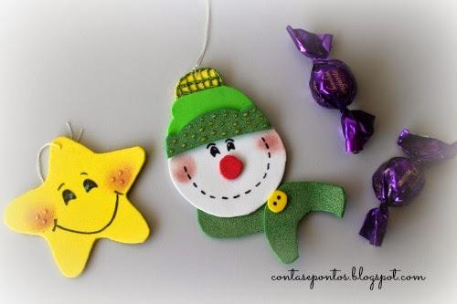 Troca de Natal - enfeites de Natal