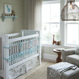 cuarto bebé celeste blanco