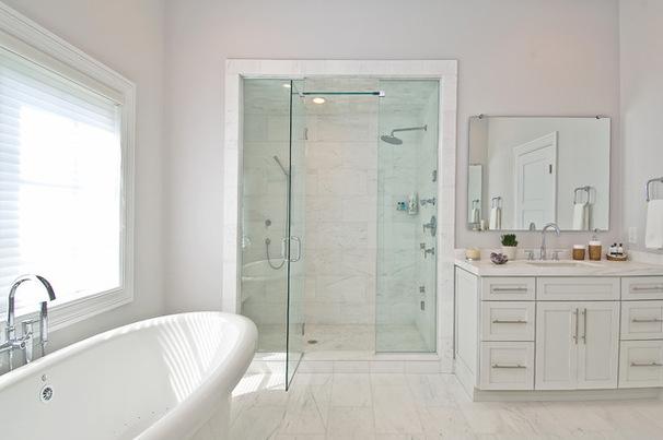 Accesorios De Baño Clasicos:La clave de estos cuartos de baño es la convivencia de elementos