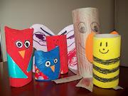 manualidades para niños 2 a 4 años. Con los conos de papel higienico y papel .