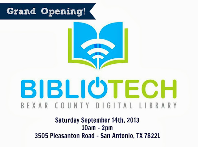 Bexar County BiblioTech opens September 14th, 2013