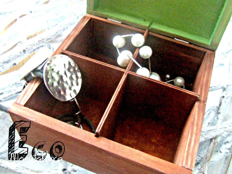 pudełko na bizuterie decoupage