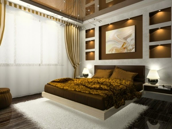 Brown Bedroom Ideas: Large Room White Brown Strike Part 58