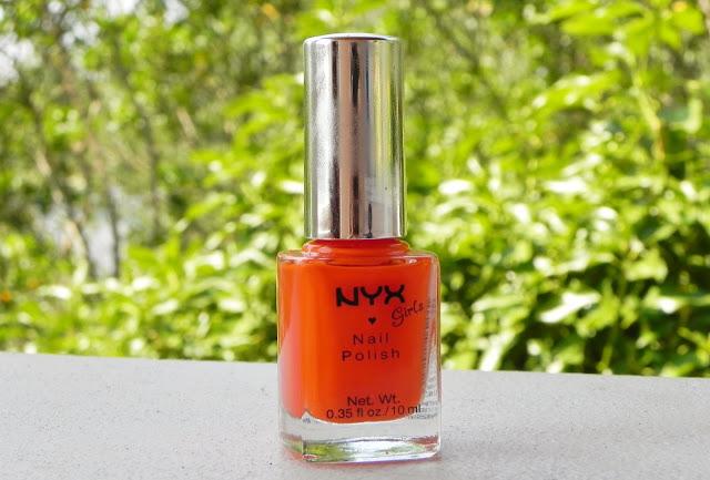nyx, fruity punch, review, nail polish