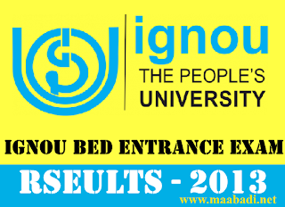 IGNOU B.Ed Entrance Test September 2013 Results