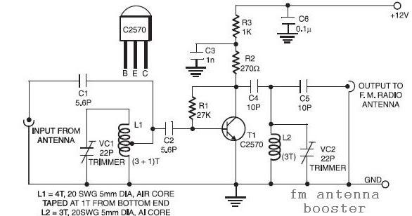 Fm Antenna Booster Circuit Diagram