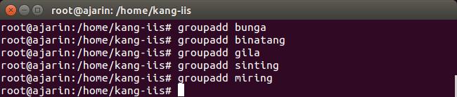 Perintah Linux - Fungsi groupadd