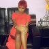 Cynthia Morgan shows off Butts while seated - PHOTO