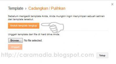 cara membackup template blog
