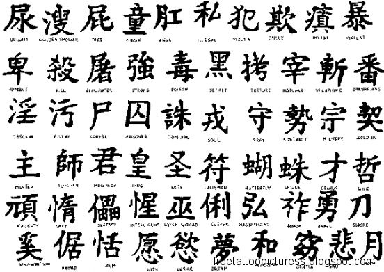 Meaning In Chinese Tattoo Symbol  Tattoo Designs Ideas