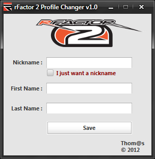 Profile changer rfactor 2