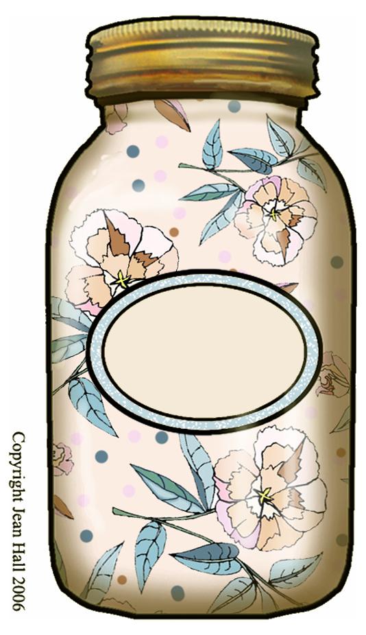 Artbyjean Bottles Mason Jar With Blank Label Gold