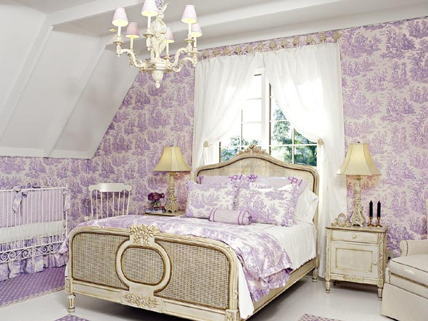 Blue Toile Bedroom Ideas: Lavender Skies: Toile De Jouy