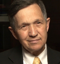 Portrait of Dennis Kucinich, democratic presidential candidate 2004