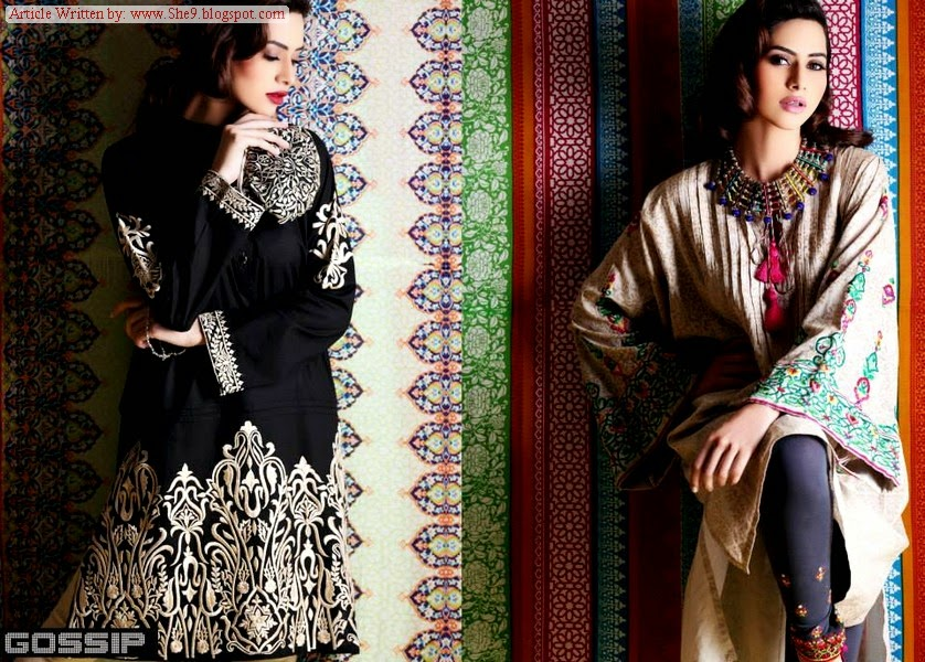 Gossip Eid Pret Collection 2014-Long Shirt Kurti for Jeans and Tights