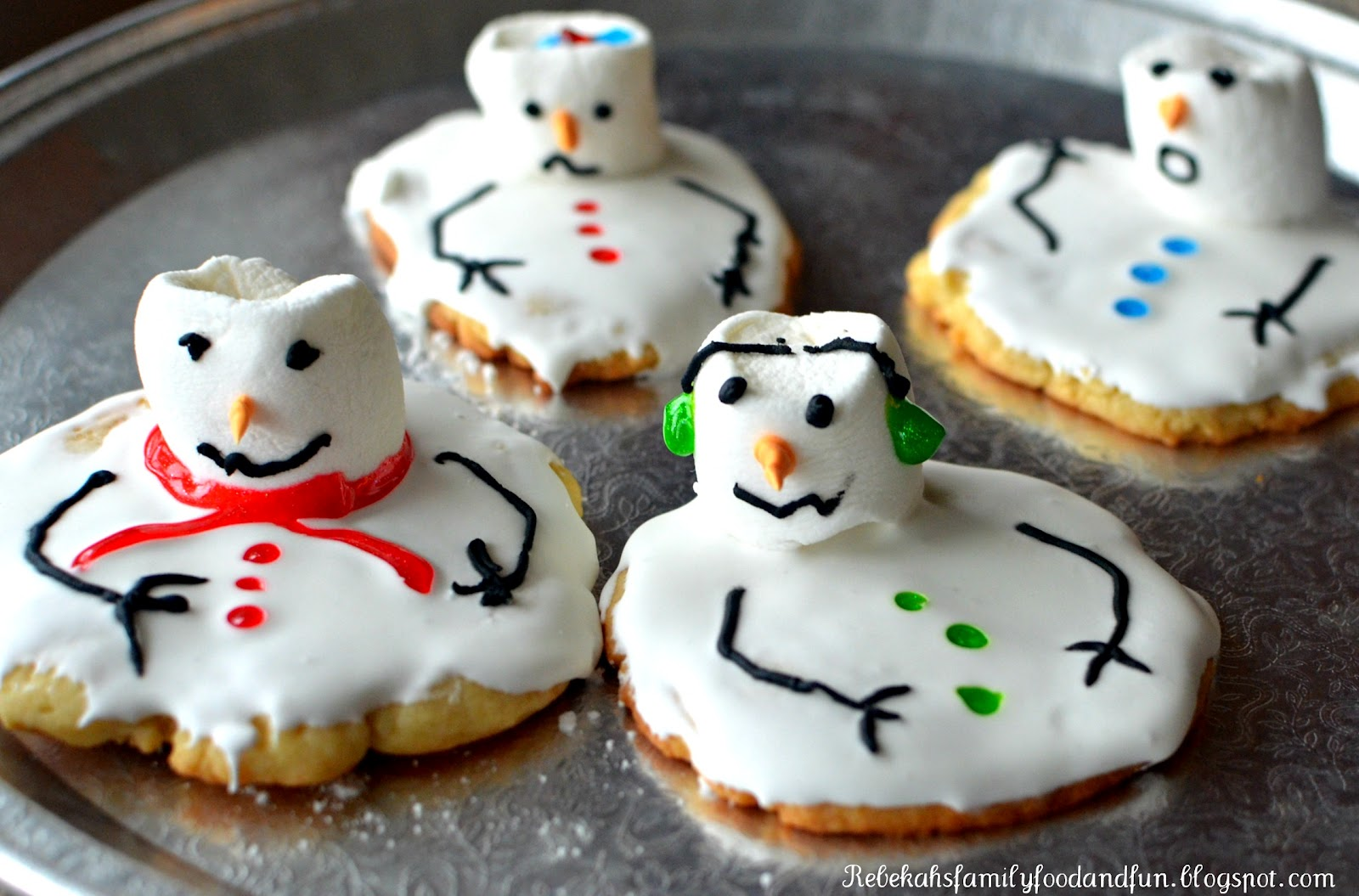 Family Food And Fun Melting Snowman Cookies