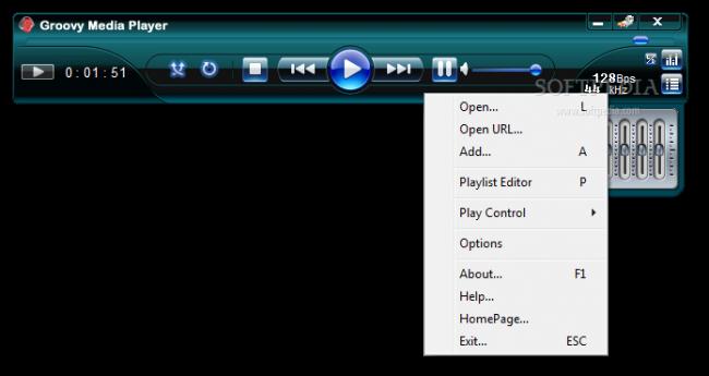 برنامج تشغيل الصوت برنامج groovy media player اخر اصدار