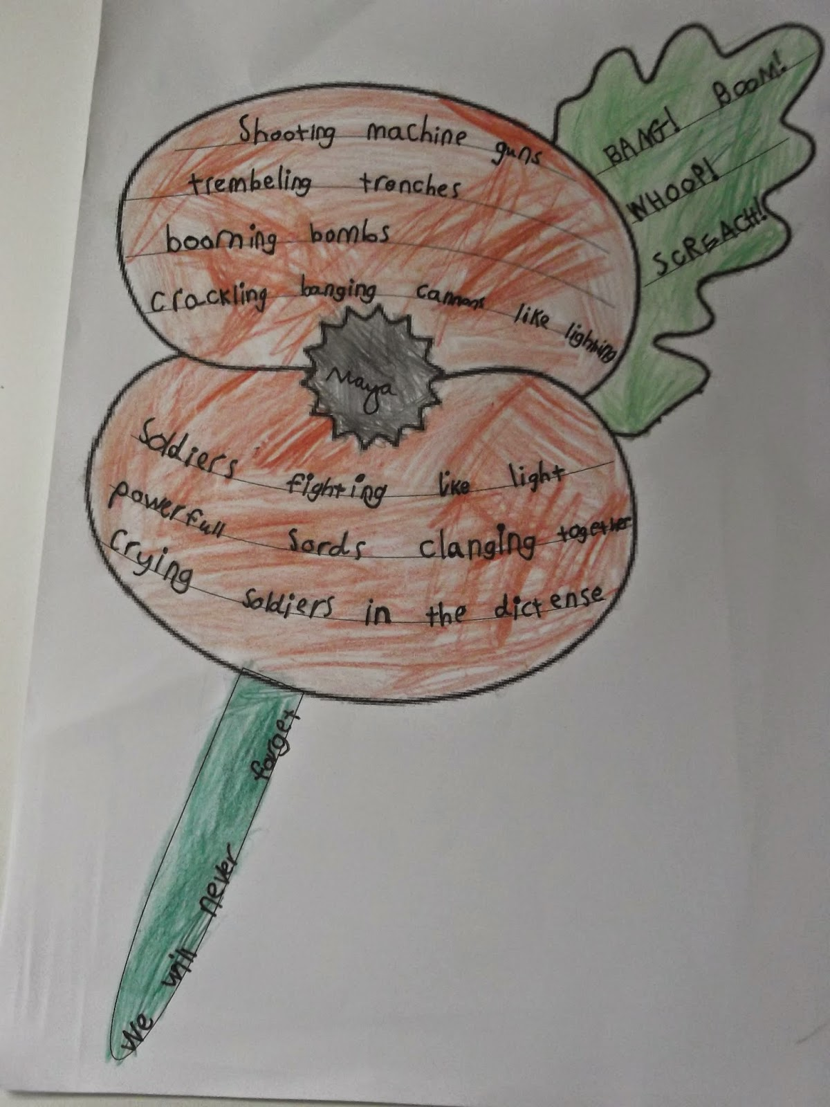 Chilcote primary school year 2 english poppy shape poems click here to see our ww1 shape poems mightylinksfo