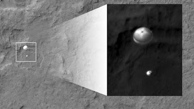picture of Curiosity landing