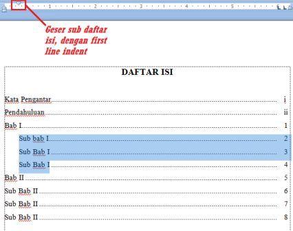 Mengatur+Daftar+isi Tutorial MS Word   Cara membuat Daftar Isi Yang Baik dan Benar