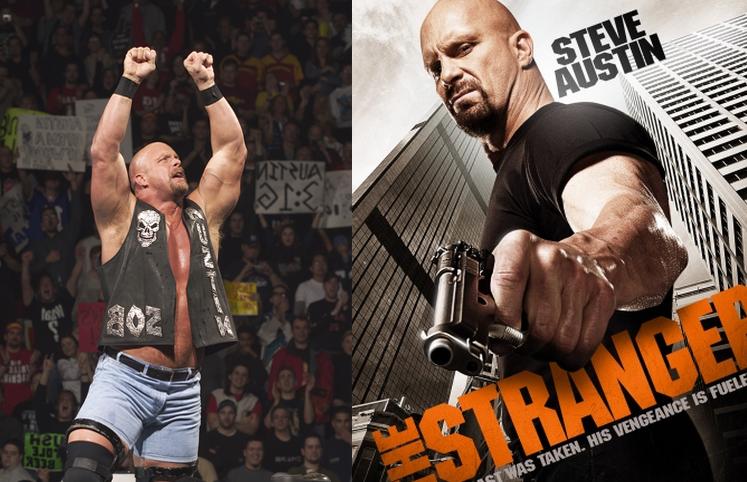 Stone Cold Steve Austin mayormente conocido como la serpiente cascabel como actor en la pantalla gigante