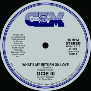OCIE III what's my return on love 1983