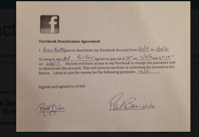 A Father Pays His Daughter $200 To Quit Facebook