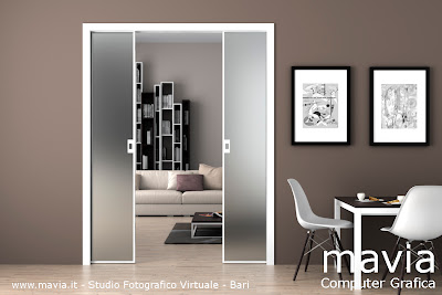 Arredamento di interni porte i porte interne scorrevoli - Porta scorrevole vetro satinato ...